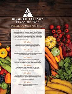 2013 Bingham Fellows Class Report