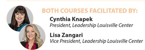 Spring 2020 womens leadership courses facilitated by Cynthia Knapek and Lisa Zangari
