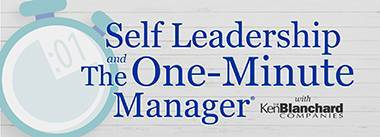 Self Leadership & The One-Minute Manager
