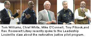 Chief White, Mike O'Connell, Troy Pitcock, Rev. Litsey